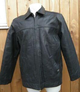 MAINE ENGLAND Debenham Vintage Genuine Real Leather Mens Black Jacket Size M