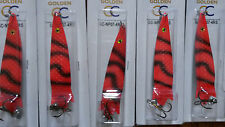 5 x 28g TOBY TOBIX Type Salmon Pike Lure Spinner in RED STRIPE, 4RS