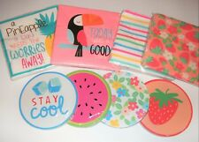 Target Dollar Spot Napkins and Coasters FUN x8 Packs Strawberry Tucan Pineapple