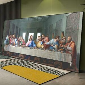 Da Vinci Famous Painting Canvas Print Reproduction The Last Supper Oil Painting