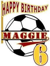 SOCCER BALL BIRTHDAY T-SHIRT Personalized Any Name/Age Toddler to Adult