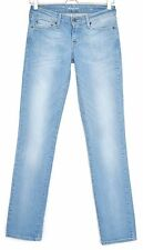 Levis STRAIGHT LEG Demi Curve Light Blue Low Rise Stretch Jeans Size 8 W25 L32