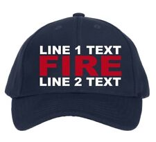 fd8406fdeb45e Firefighter Customizable Ball Cap Embroidered Flex Fit Adjustable Hat Fire  Style