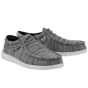Hey Dude Men's Wally Stretch Granite Shoes 110383045