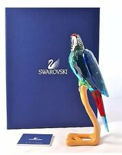 Swarovski Crystal Chrome Green Macaw Birds of Paradise 685824 Large Figure MIB