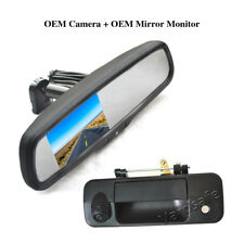 Tailgate Rear View Backup Camera & Replacement Mirror Monitor For Toyota Tundra