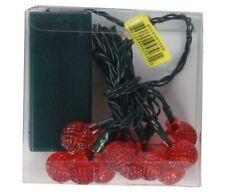 UltraLED Battery Oper Raspberry Twinkle Light String with Timer, Red, 3.5' 2 PKS