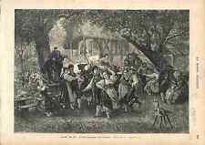 COSTUMES TYPES ALSACE ALSACIEN COSTUMES FETE CHAMPETRE  1873