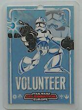 Star Wars Celebration Europe show pass 2007 Volunteer