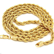 """New Hot Fashion Men's 24"""" Gold Plated 5mm Rope Long Chain Necklace Jewelry Gift"""