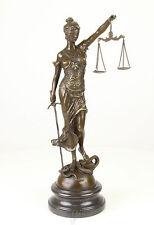 Bronze Figur Skulptur Justitia gestempelt Anwalt Richter Anwalt Richter VG-74