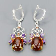Vintage SET Natural Amber 925 Sterling Silver Earrings /E34925