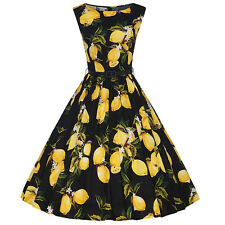 Women's 50s 60s Swing Vintage Floral Housewife Rockabilly Evening Party Dress