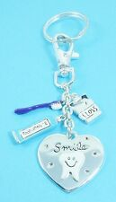 Dental Assistant Adorable  silver plated Purse Charm OR  Key Chain Dentist