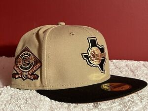 NEW ERA TEXAS RANGERS RUST DROP FITTED HAT SIZE 7 3/8