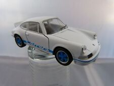 Welly 1973 Porsche Carrera RS  ca.11,5 cm lang in weiß blau
