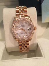 Rolex Datejust Lady 31mm Midsize Jubilee Mother of Pearl Diamond Bezel 178288