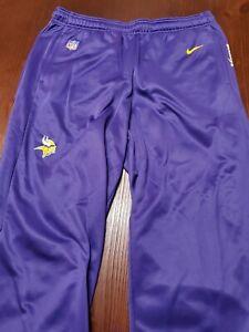 NWT Nike Minnesota Vikings Mens Sideline Performance Pants Large Purple MSRP$75