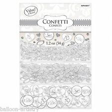 Blanc bague diamant mariage fiançailles confettis table sprinkle triple pack