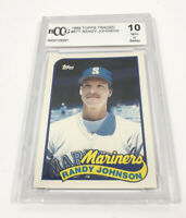 1989 Topps Traded Randy Johnson Seattle Mariners Graded Rookie Card 194-L