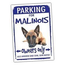 Belgian Malinois Mali Parking Schild Achtung Spruch Warnschild Türschild Fun