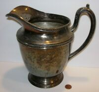 Antique Serving Style Water Pitcher Silverplate midtown silverware vase vintage