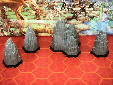 Heroscape Terrain - 4 Rock Outcrops with Bases