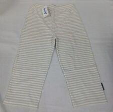 JACADI Girl's Tamis8 Beige & White Striped Capris Sz 6 Years (116cm) NEW $53