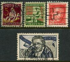 SWITZERLAND - 1927 PRO JUVENTUS 30c 'BLUE & BLACK Set SGJ40-J43 FU Cv£17[A7531]*