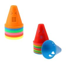 24-Set Mix Color Expressions Style Roller Skating Skateboard Cones Pile Cup