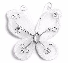 "72 Organza nylon wire butterfly butterflies wedding arts crafts decor 2"" big"