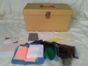 Vintage Wilson Wil-Hold gold Plastic Sewing Box Basket Retro USA