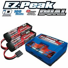 Traxxas 2990 EZ-Peak Dual Charger w/ Two 5000mAh 25C 3S iD LiPo Batteries