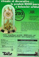 Publicité advertising 1976 La Pendule 1000 Jours Difor Besancon