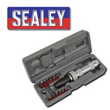 """SEALEY PREMIER AK208 IMPACT SCREWDRIVER DRIVE SET 13 BITS 1/2"""" SQ DV PRO TOOL"""