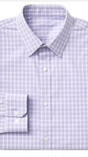 Gap Men Shirt Stretch Purple Check Size S Long Sleeve Stretch For Extra Comfort