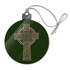 Celtic Christian Cross Irish Ireland Acrylic Christmas Tree Holiday Ornament