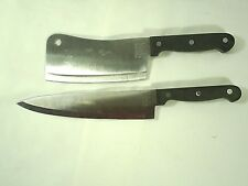 Philippe Richards Knives Stainless Steel Black Handles Lot of 2 Cutlery