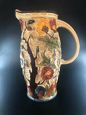 More details for hj wood indian tree vase vintage jug vase 1950's