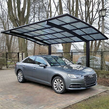 Carport Bogendach Aluminium Garage freistehend Einzelcarport Mattbraun 495x270cm