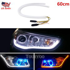2xFlexible Switchback DRL LED Light Strip Tube With Amber Sequential Turn Signal