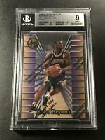 KOBE BRYANT 1996 TOPPS #52 FINEST MEMBERS ONLY ROOKIE RC W/ COATING BGS 9 RARE