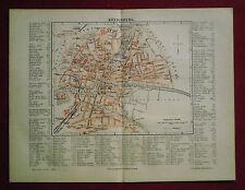 1890 ANTICA.STAMPA GEO-TOPOGRAFICA= KASSEL GERMANIA..