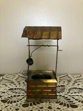 Vintage Copper Rustic Water Well Figurine Farm Shabby Chic Art Decoration