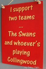 Sydney Swans Versus Collingwood Footy Sign Aussie Rules Bar Pub Man Cave Signs