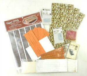 S Scale Lot: Assorted Building Roofing & Doors, Cobblestone, Paper, Plastic F20