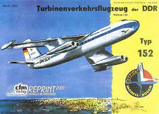 VEB FLUGZEUGWERKE DRESDEN BAADE 152, Linienflugzeug. DDR 1958