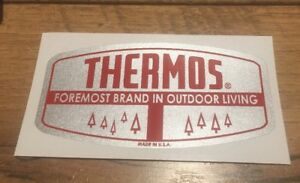 Thermos Cooler Foremost Brand in Outdoor Living decal Red On Silver Qty 2