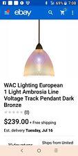 WAC Lighting European 1 Light Ambrosia Line Voltage Track Pendant Dark Bronze