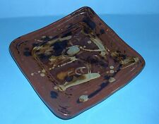Studio Art Pottery - Pretty Abstract Design Pin Tray - Makers Mark On Back.